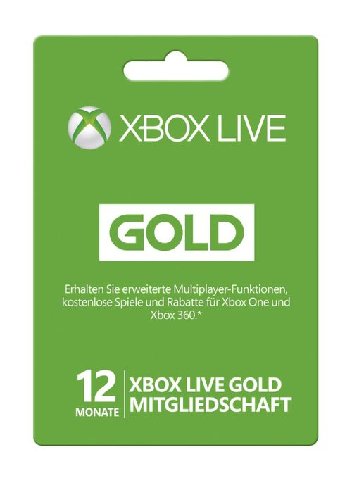 12 monate xbox live gold mitgliedschaft xbox one 360 bei. Black Bedroom Furniture Sets. Home Design Ideas