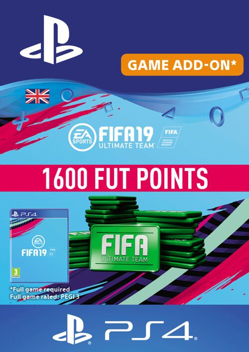 1600 FIFA 19 Points PS4 PSN Code - UK account