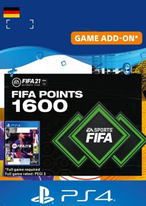 FIFA 21 Ultimate Team 1600 Points Pack PS4/PS5 (Germany)
