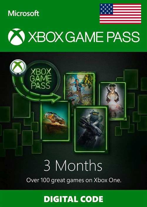 3 Month Xbox Game Pass Xbox One (USA)