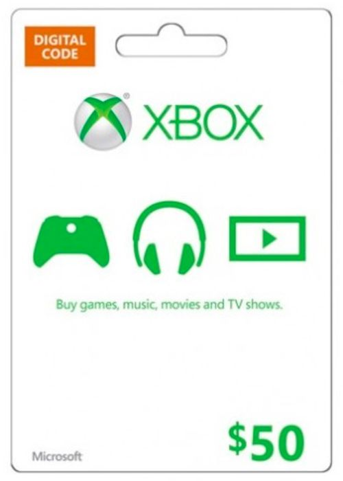 Microsoft Gift Card - $50 (Xbox One/360)