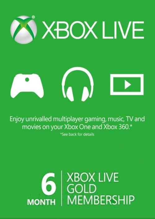 6 Month Xbox Live Gold Membership BRAZIL