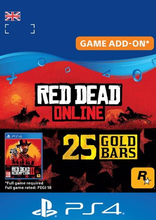 Red Dead Online: 25 Gold Bars PS4 (UK)