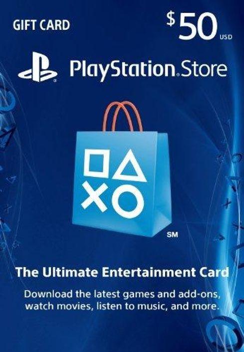 $50 PlayStation Store Gift Card - PS3/ PS4/ PS Vita Digital Code