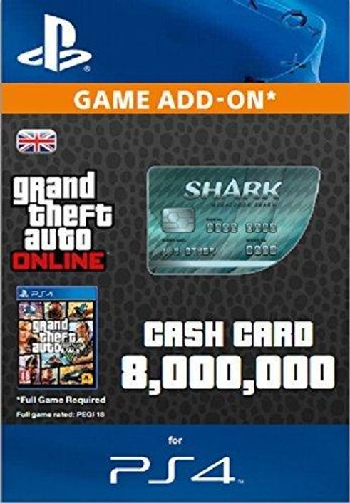 Grand Theft Auto Online (GTA V 5): Megalodon Shark Cash Card PS4