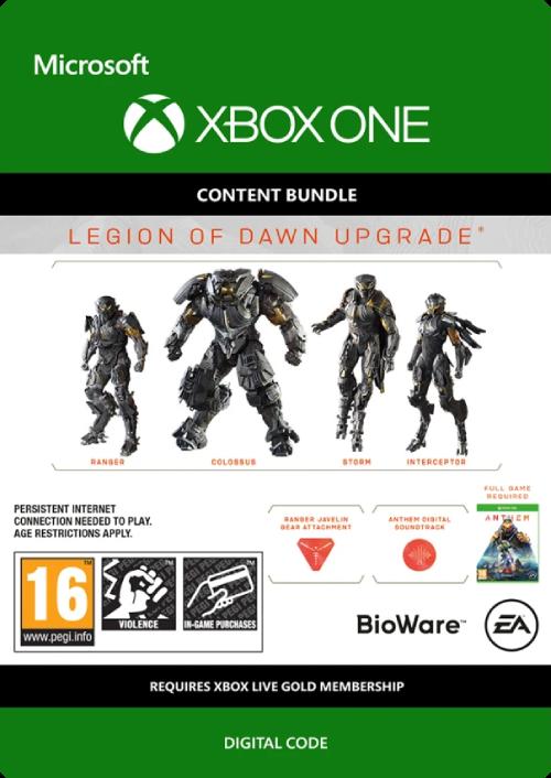 Anthem Legion of Dawn Upgrade Xbox One