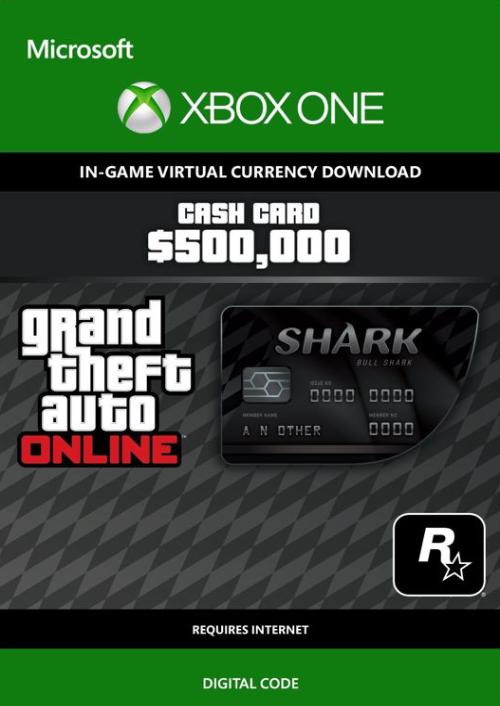 GTA Online Bull Shark Cash Card - $500,000 Xbox One