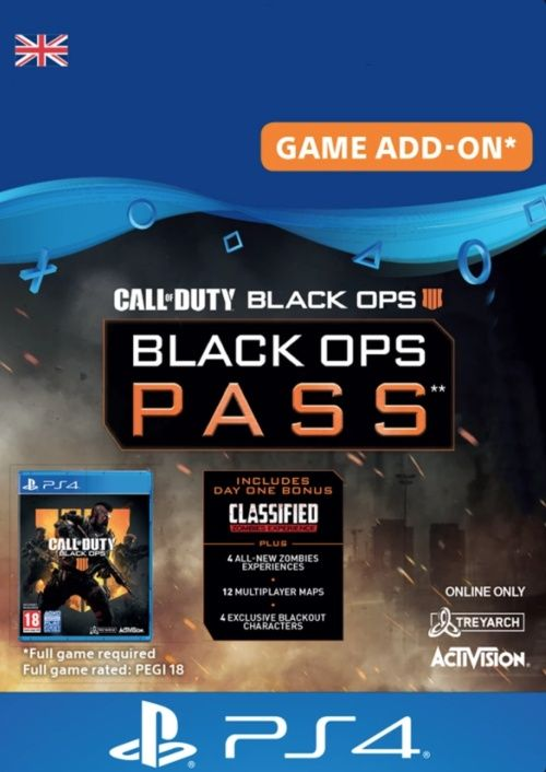Call of Duty (COD) Black Ops 4 - Black Ops Pass PS4