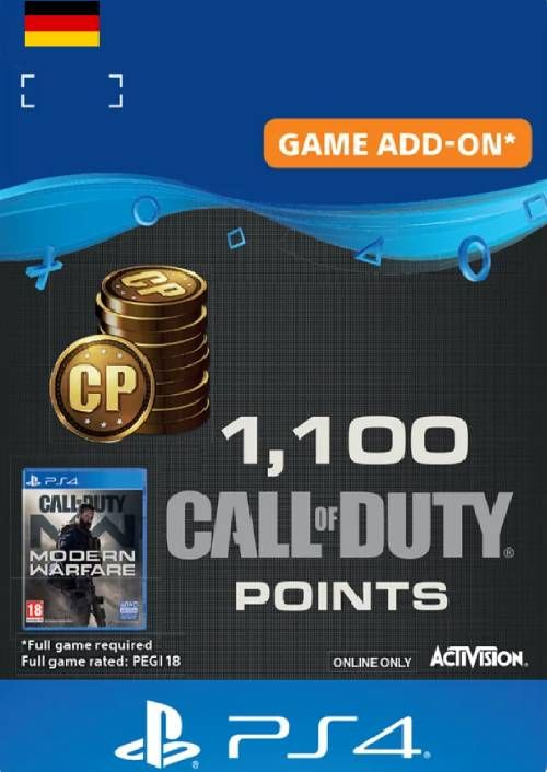 Call of Duty Modern Warfare - 1100 Points PS4 (Germany)