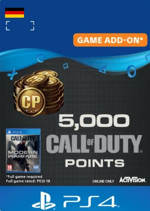 Call of Duty Modern Warfare - 5000 Points PS4 (Germany)