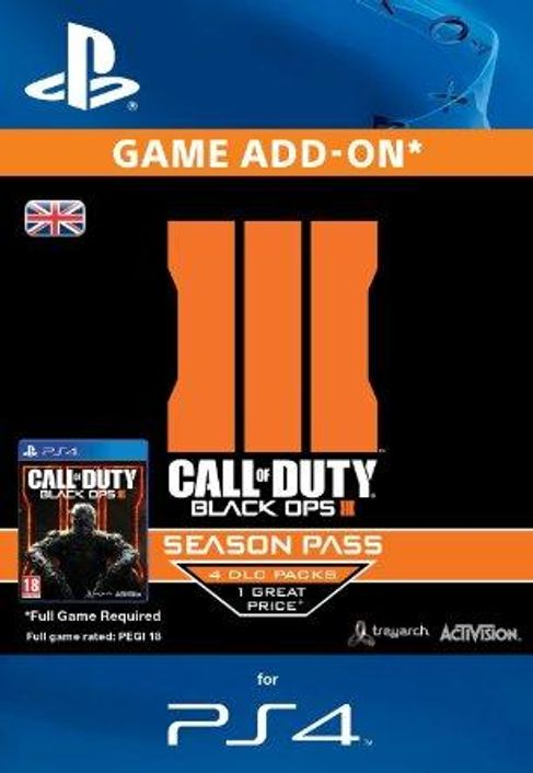 Call of Duty (COD): Black Ops III 3 Season Pass (PS4)
