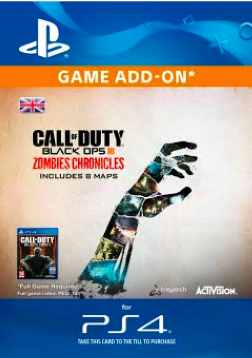 Call of Duty (COD) Black Ops III 3 Zombie Chronicles PS4