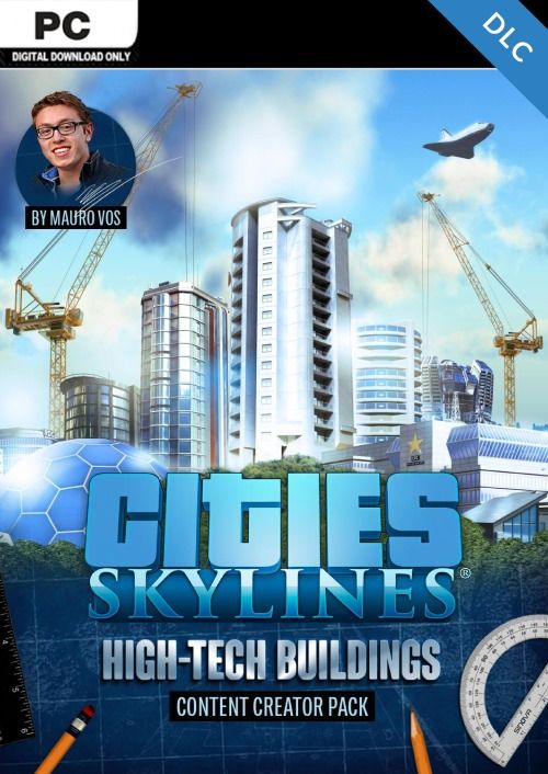 Cities Skylines - Content Creator Pack High-Tech Buildings DLC