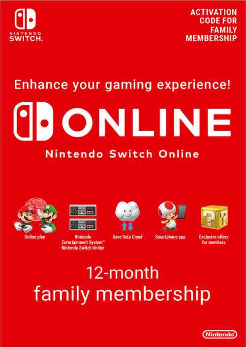 Nintendo Switch Online 12 Month (365 Day) Family Membership Switch