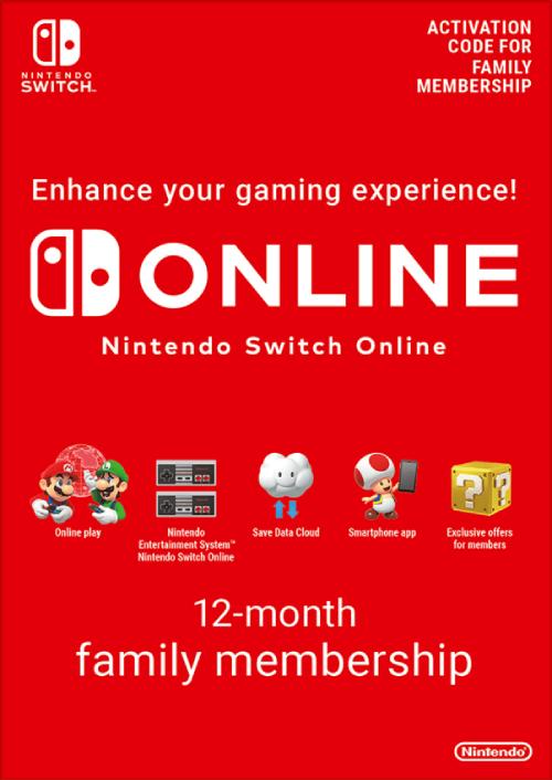 Nintendo Switch Online 12 maanden (365 dagen) gezinslidmaatschap Switch