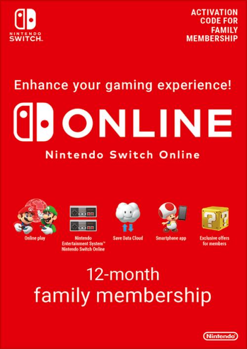 Nintendo Switch Online 12 maanden (365 dagen) gezinslidmaatschap Switch (VS)