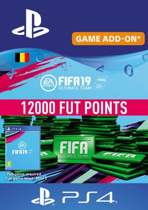 Fifa 19 - 12000 FUT Points PS4 (Belgium)