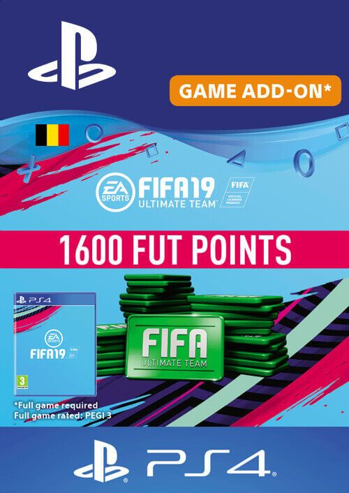 Fifa 19 - 1600 FUT Points PS4 (Belgium)