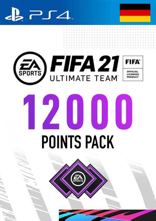 FIFA 21 Ultimate Team 12000 Points Pack PS4 (Germany)