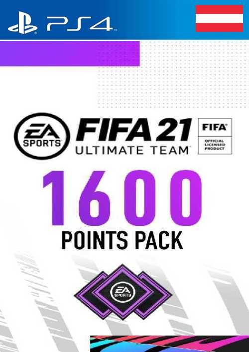 FIFA 21 Ultimate Team 1600 Points Pack PS4 (Austria)