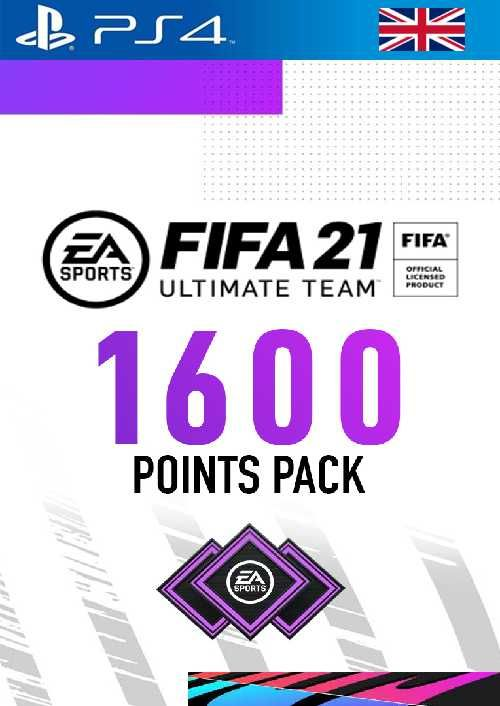 FIFA 21 Ultimate Team 1600 Points Pack PS4 (UK)