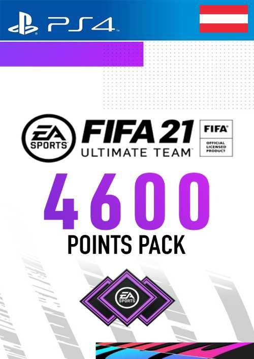 FIFA 21 Ultimate Team 4600 Points Pack PS4 (Austria)