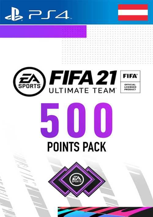 FIFA 21 Ultimate Team 500 Points Pack PS4 (Austria)
