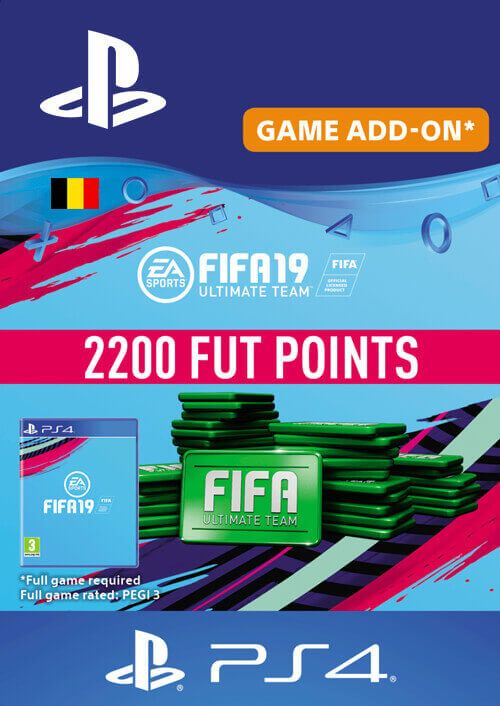 Fifa 19 - 2200 FUT Points PS4 (Belgium)