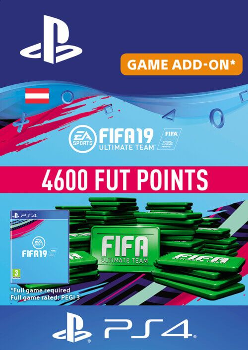 Fifa 19 - 4600 FUT Points PS4 (Austria)