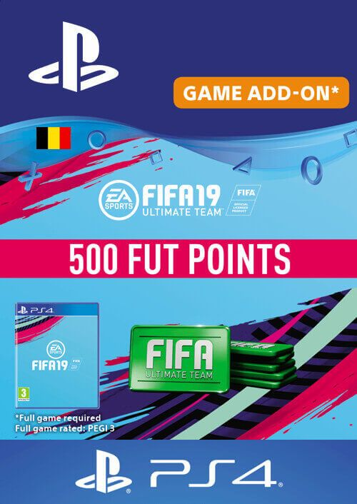 Fifa 19 - 500 FUT Points PS4 (Belgium)