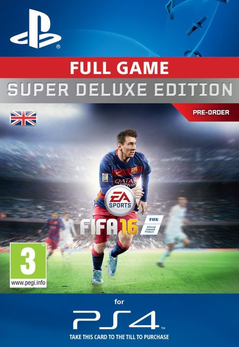 Fifa 16 Super Deluxe PS4 - Digital Code