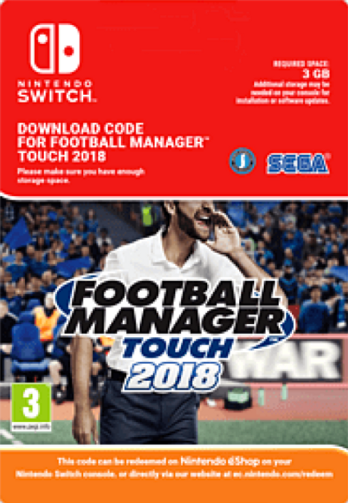 Football Manager (FM) Touch 2018 Switch