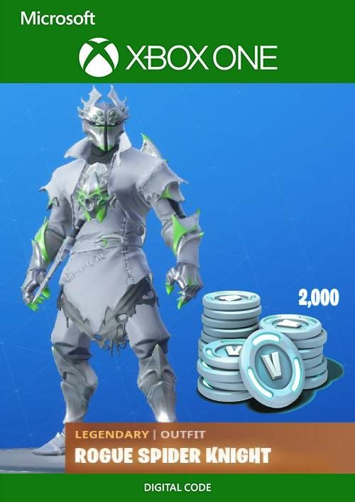 Fortnite Legendary Rogue Spider Knight Outfit 2000 V Bucks Bundle Xbox One