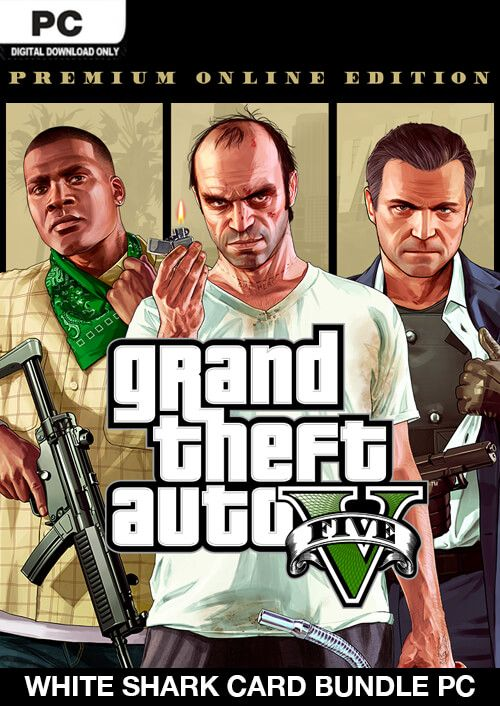 Grand Theft Auto V: Premium Online Edition & White Shark Card Bundle PC