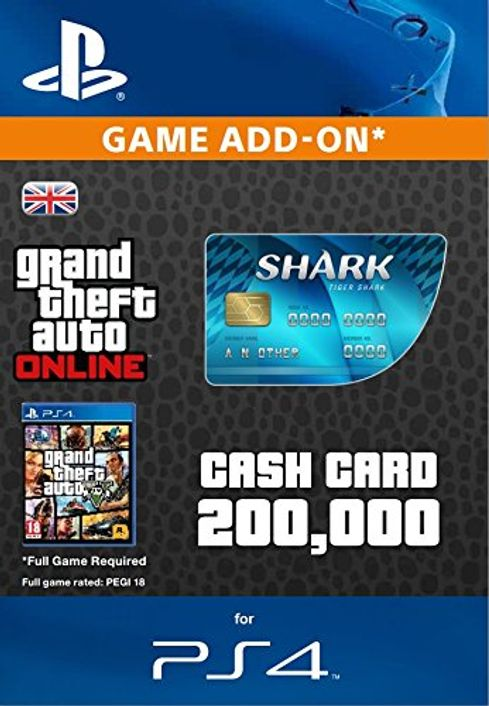 Grand Theft Auto Online (GTA V 5) Tiger Shark Cash Card PS4