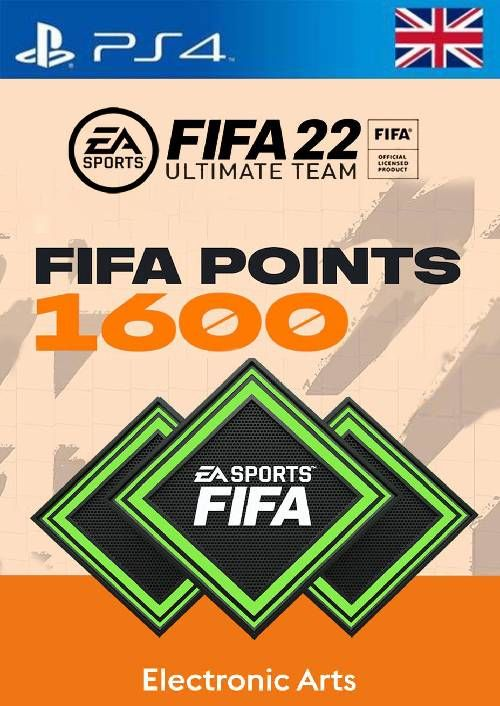 FIFA 22 Ultimate Team 1600 Points Pack  PS4/PS5 (UK)
