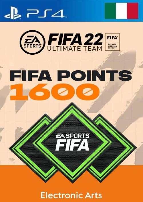 FIFA 22 Ultimate Team 1600 Points Pack  PS4/PS5 (Italy)
