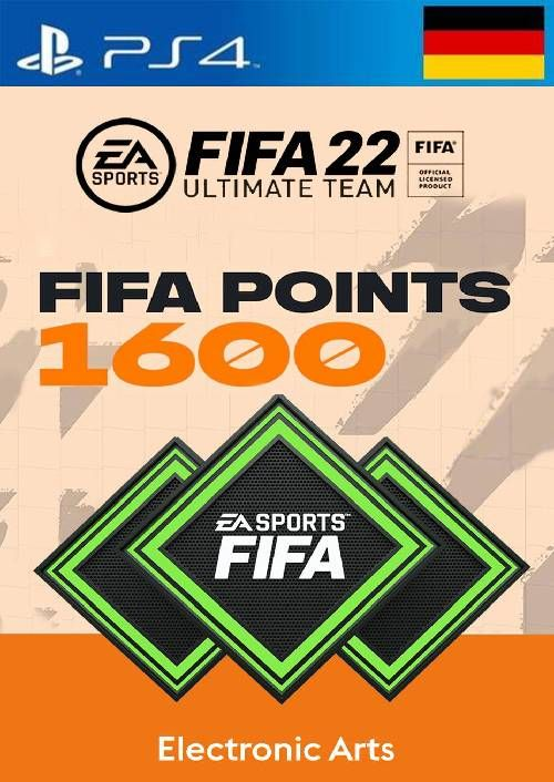 FIFA 22 Ultimate Team 1600 Points Pack  PS4/PS5 (Germany)