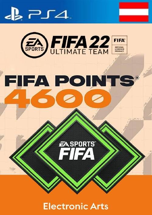 FIFA 22 Ultimate Team 4600 Points Pack  PS4/PS5 (Austria)
