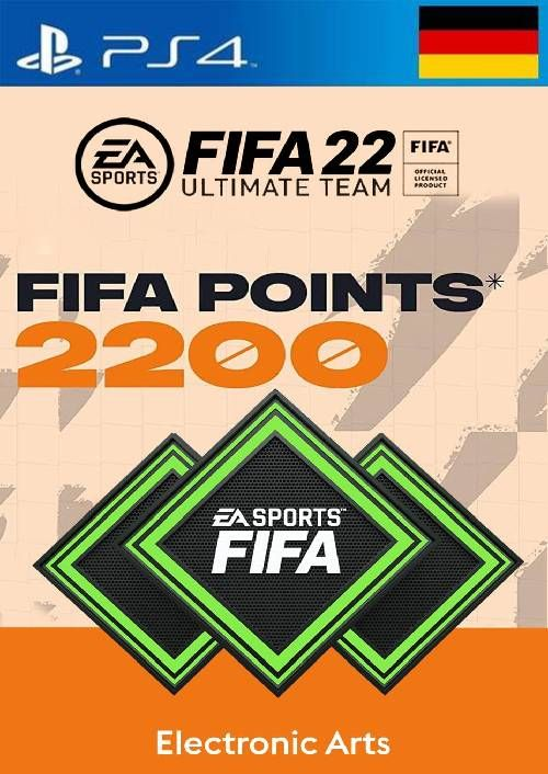 FIFA 22 Ultimate Team 2200 Points Pack  PS4/PS5 (Germany)