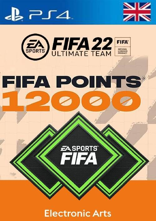FIFA 22 Ultimate Team 12000 Points Pack  PS4/PS5 (UK)