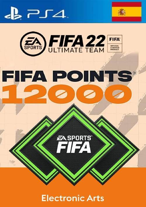 FIFA 22 Ultimate Team 12000 Points Pack  PS4/PS5 (Spain)