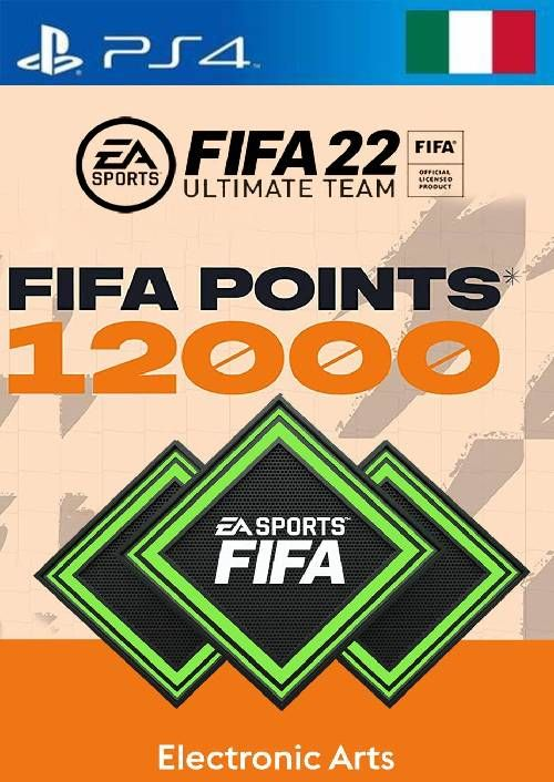 FIFA 22 Ultimate Team 12000 Points Pack  PS4/PS5 (Italy)