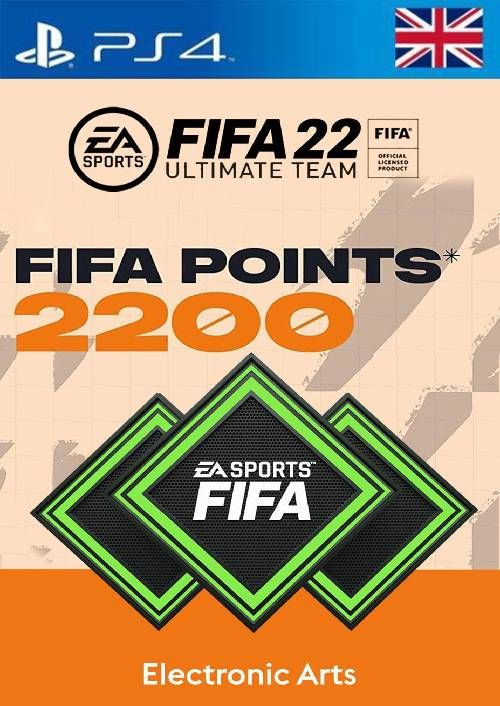 FIFA 22 Ultimate Team 2200 Points Pack  PS4/PS5 (UK)