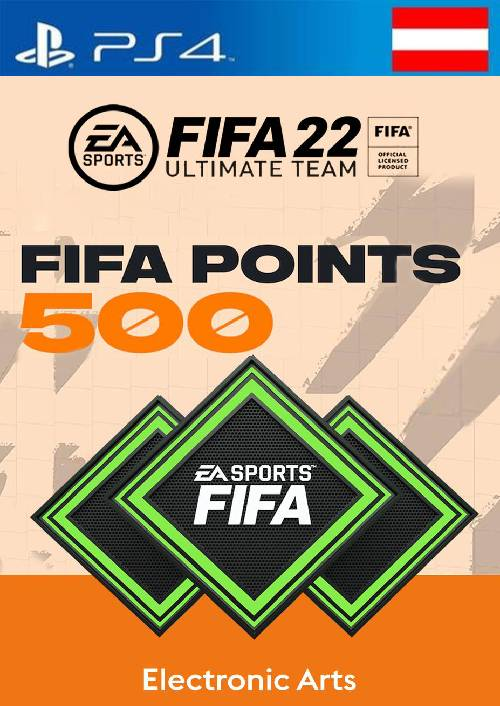 FIFA 22 Ultimate Team 500 Points Pack  PS4/PS5 (Austria)
