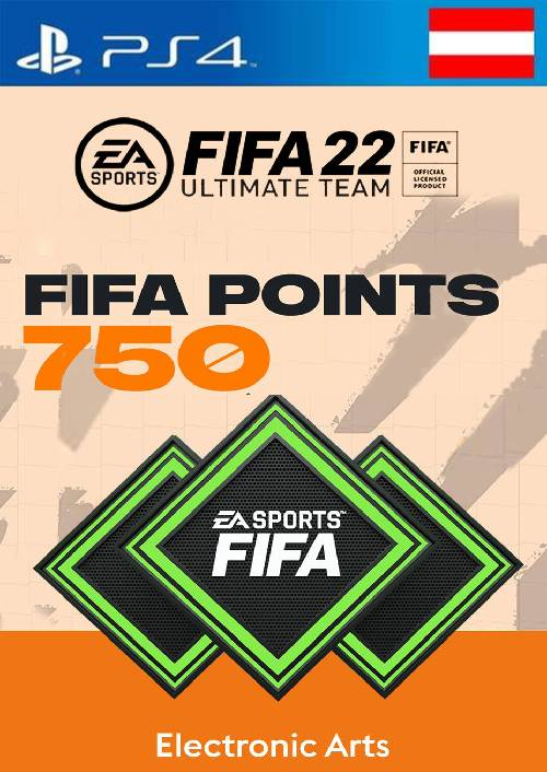 FIFA 22 Ultimate Team 750 Points Pack  PS4/PS5 (Austria)