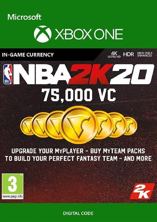 NBA 2K20: 75,000 VC Xbox One