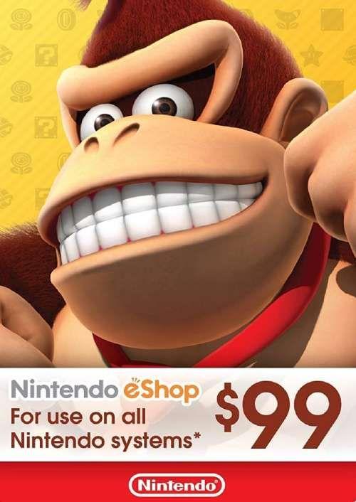 Nintendo eShop Card - 99 CAD