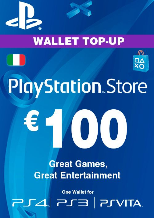 Playstation Network (PSN) Card - 100 EUR (Italy)