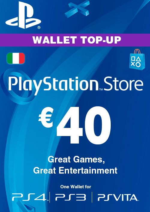 Playstation Network (PSN) Card - 40 EUR (Italy)
